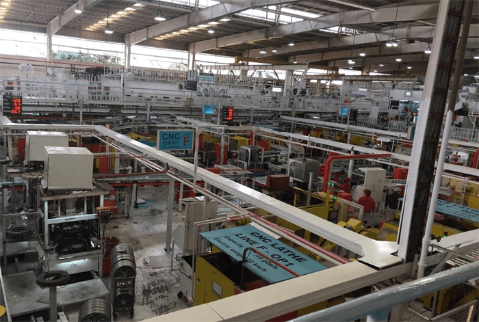 Dây chuyền sản xuất linh kiện ô tô