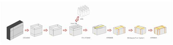 Dây chuyền đóng thùng carton tự động chính hãng Mikyo