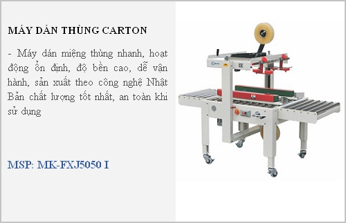 may dan thung carton mikyo